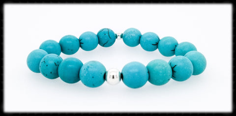 #JGB02- Gemstone Stretch- Turquoise