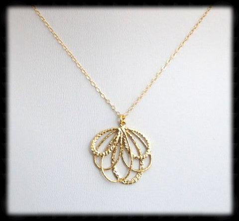 #MM1N- Bow Chain Necklace- Gold