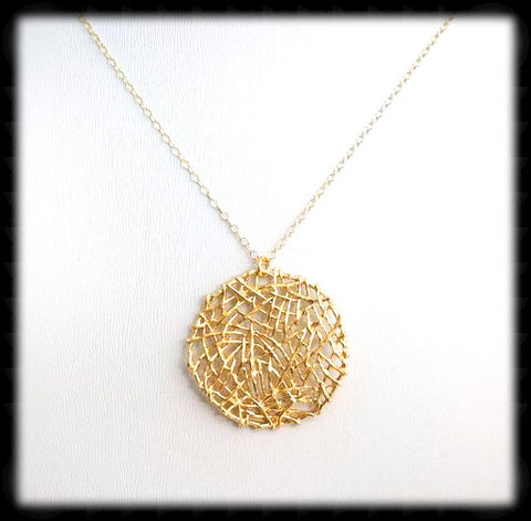 #MM12N- Mesh Round Chain- Gold