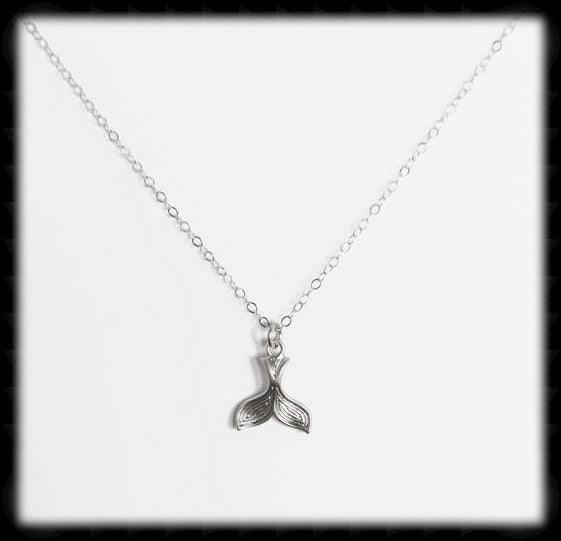 #MM518N- Whales Tail Necklace- Silver