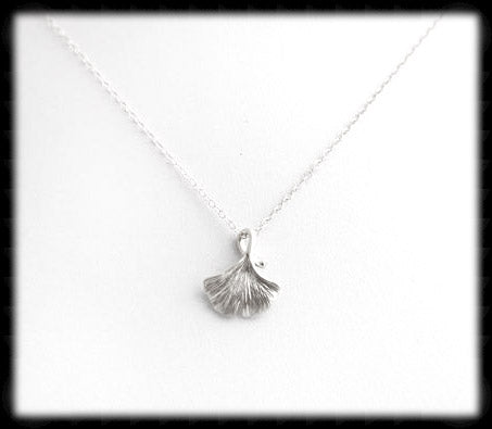 #N-MM003- Gingko Chain- Silver