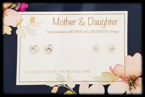 #MOMSG991- Mother & Daughter Earring Set- Nautical Knots