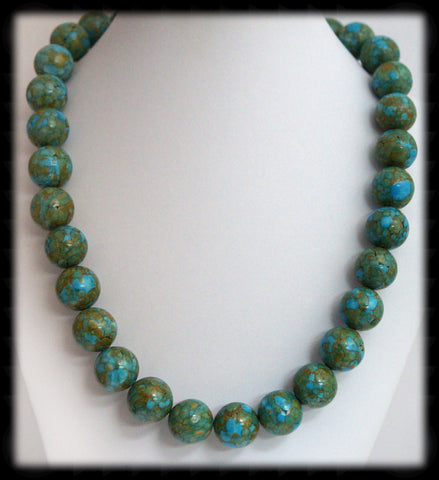 #AAJGN1- Gemstone Necklace- Mosaic Turquoise