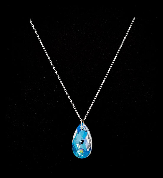 #CR23N- Princess Crystal Chain Necklace- Crystal Shimmer