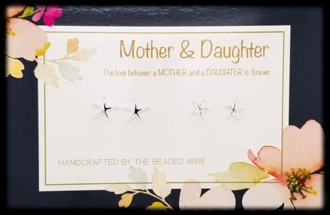 #MOMSG045- Mother & Daughter Earring Set- Dancing Starfish