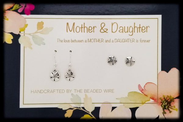 #MOMSG65- Mother & Daughter Earring Set- Sand Dollar