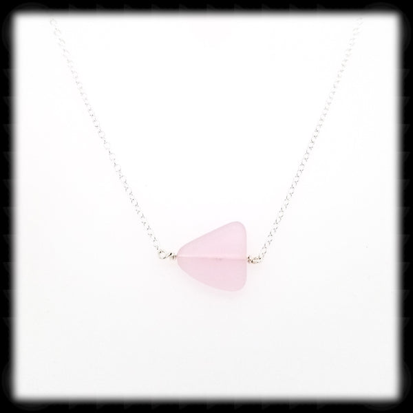 #SGLN16- Sea Glass Necklace- Pink