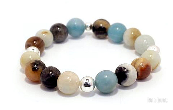 #JGB03- Gemstone Stretch- Amazonite