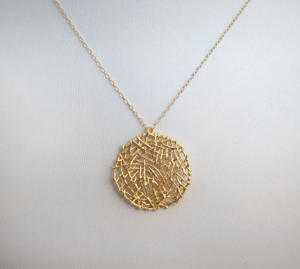 #N-MM1G- Abstract Mesh Chain- Gold