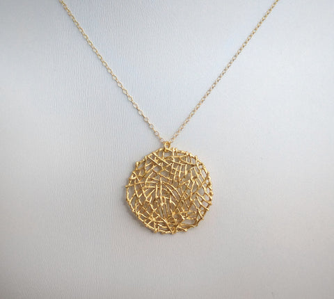 #N-MM12- Mesh Round Chain- Gold