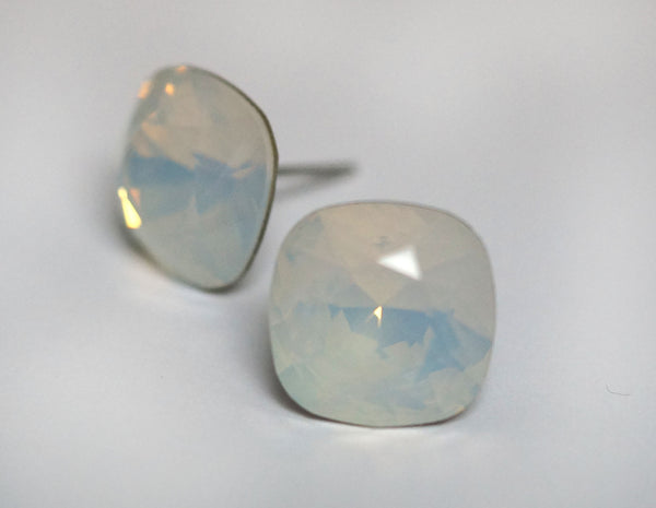 #CS26- White Opal Crystal Studs