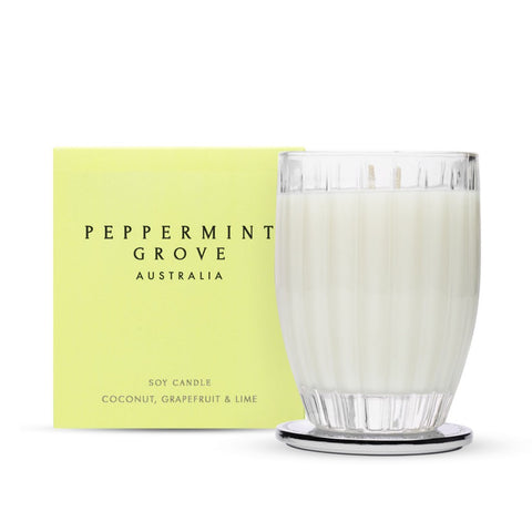 Peppermint Grove COCONUT, GRAPEFRUIT & LIME - LARGE CANDLE 350G