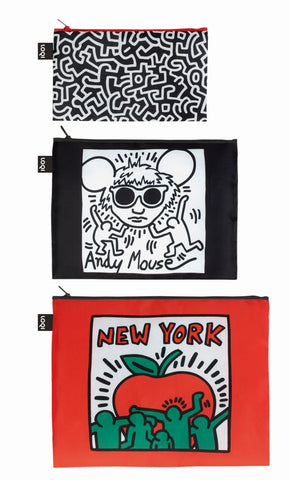 MUSEUM Collection<br>Zip Pockets<br>Keith Haring/New York<br>© Keith Haring Foundation.Licensed by Artestar New York<br>ZP.KH.NY