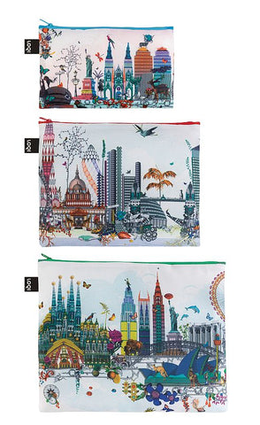 ARTISTS Collection<br>Zip Pockets<br>Kristjana S Williams Interiors/World Skyline<br>©Kristjana S Williams Interiors<br>ZP.KW.WS