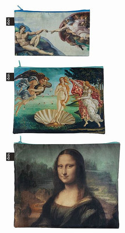MUSEUM Collection<br>Zip Pockets<br>Michelangelo,Botticelli,Da Vinci<br>©Vatican Museums© Uffizi Gallery Florence© The Louvre Paris<br>ZP.MU.MI