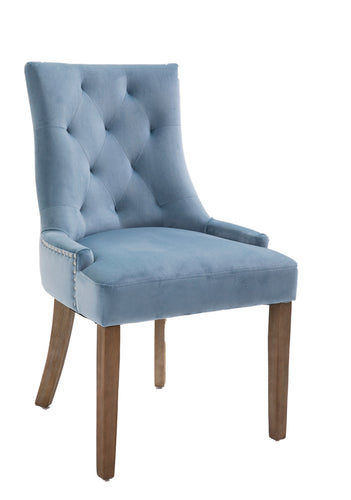 Sandy dining chair in sky blue
