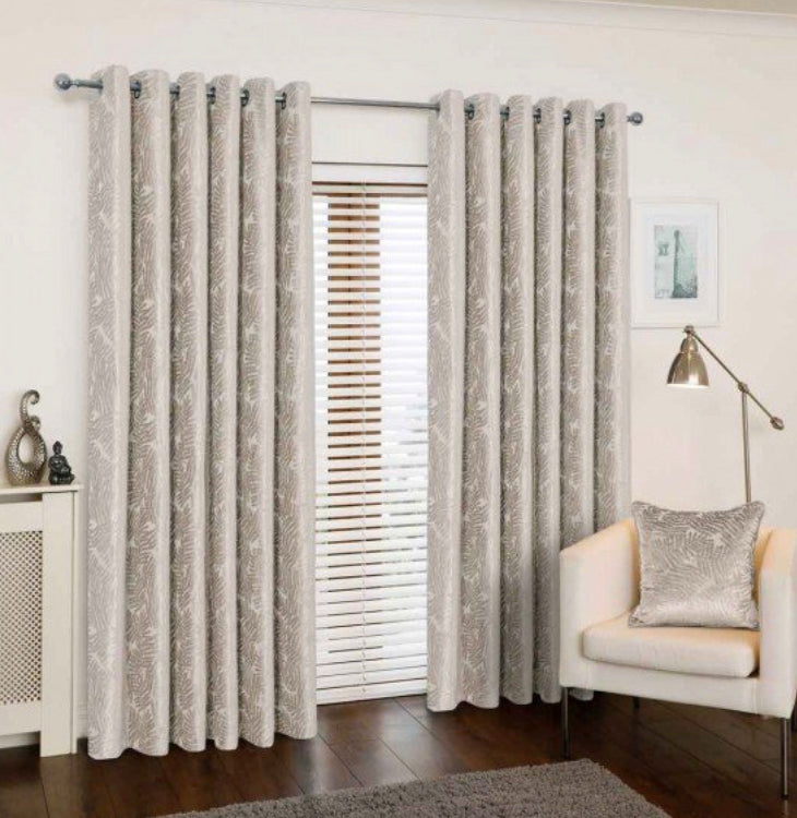 Azolla Pearl eyelet curtains