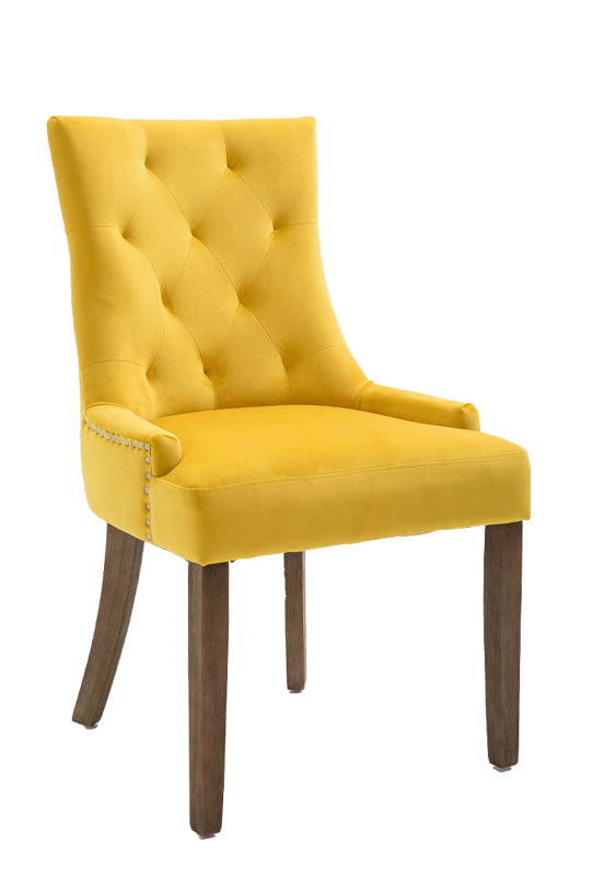 Sandy dining chair in gold