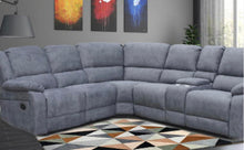 Load image into Gallery viewer, Lilly recliner suite in blue/grey