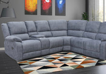 Load image into Gallery viewer, Lilly recliner corner group in blue/grey