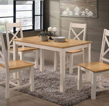 Load image into Gallery viewer, Rochester cream and oak dining set