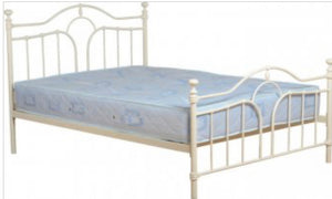 Keswick cream metal bed
