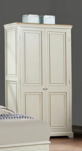 Claire Cream and oak wardrobe