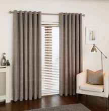 Load image into Gallery viewer, Mercury soft grey eyelet curtains