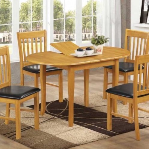 Shannon natural oak extending dining set with 4 chairs