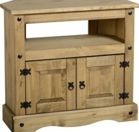 Corona Mexican pine tv corner unit
