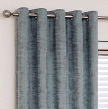 Load image into Gallery viewer, Mercury Aqua eyelet curtains