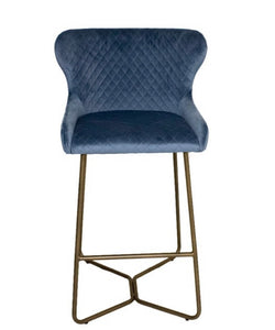 Carla bar stool in blue
