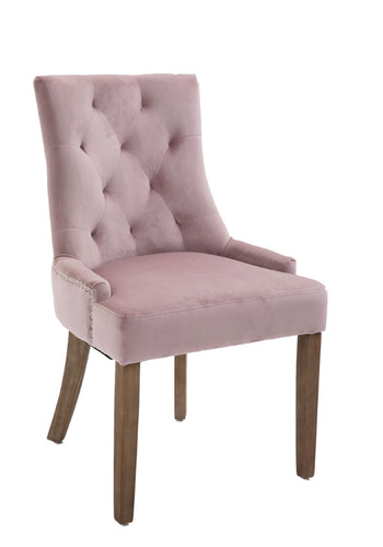 Sandy dining chair in dusty pink