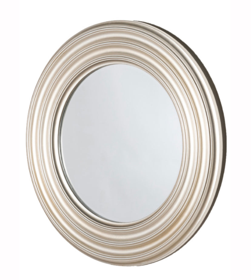 Reflections ridge round mirror