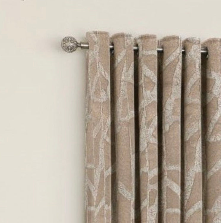 The Manhatten bronze eyelet curtains