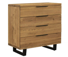 Load image into Gallery viewer, Havana solid oak 4 drawer chest