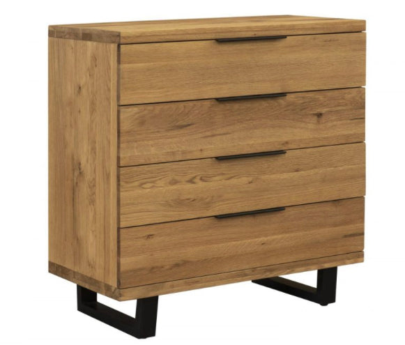 Havana solid oak 4 drawer chest
