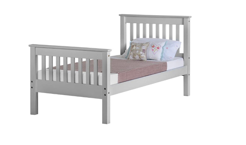 Monaco white high end bedframe