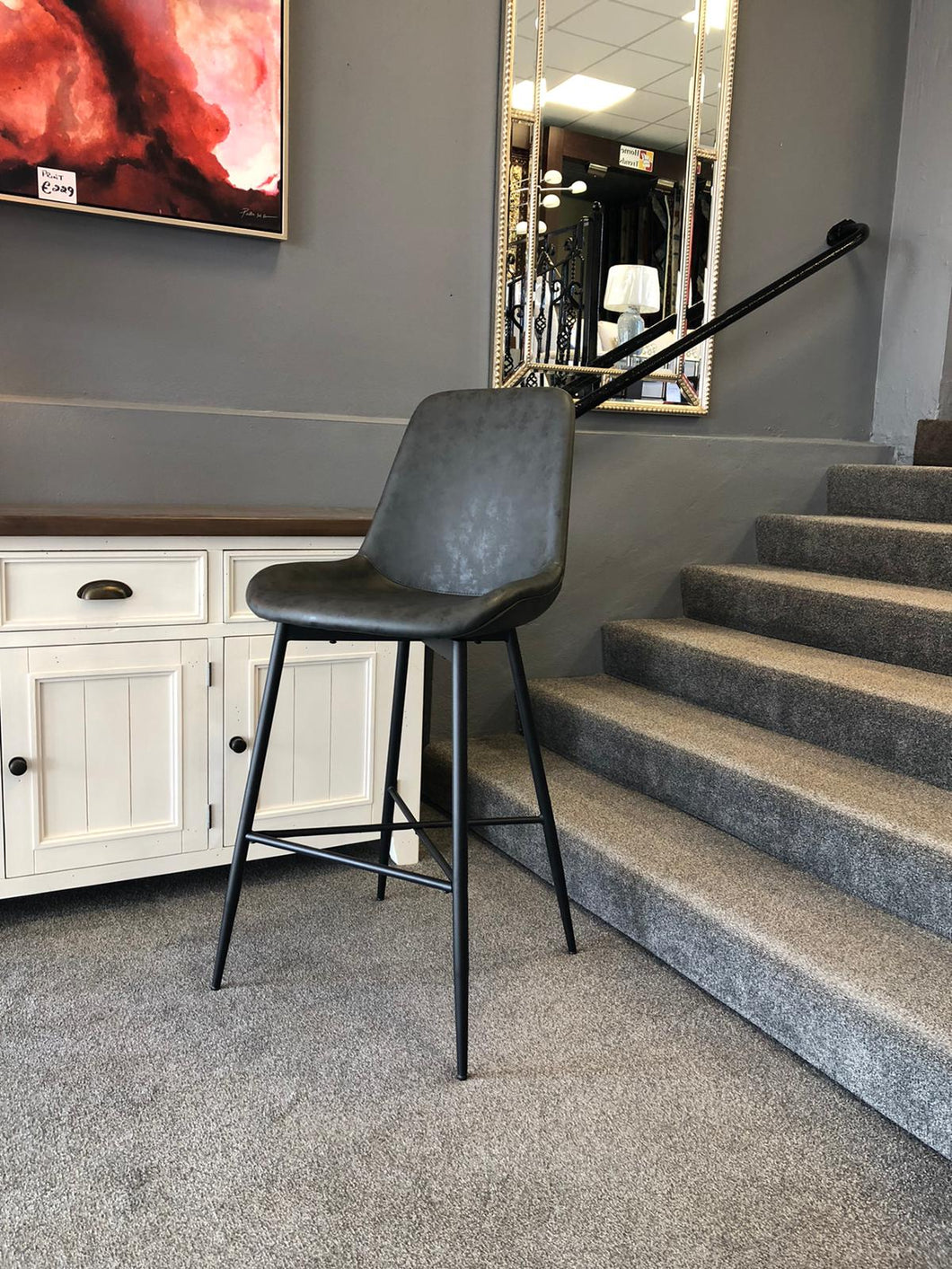 Richmond bar stool in grey