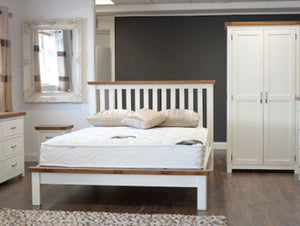 Manhattan cream and oak bedframe