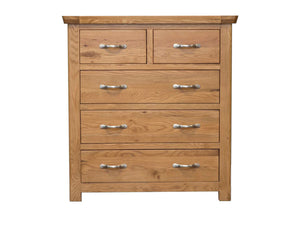 Manhattan oak 5 drawer chest