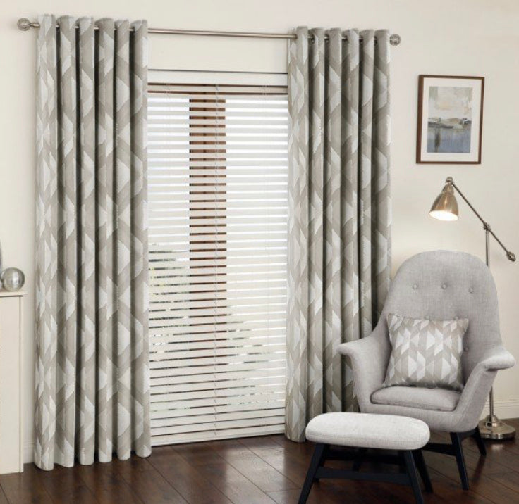 Mali sandstone eyelet curtains