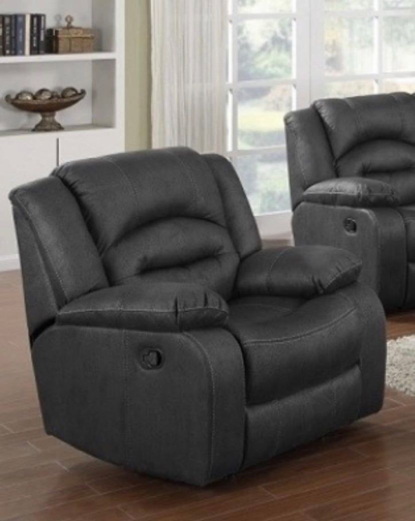 Novella fabric reclining suite in grey