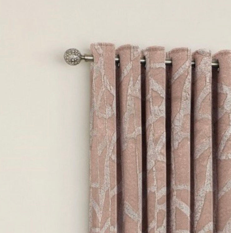 The Manhatten rose gold eyelet curtains