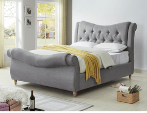 Arizona fabric grey bedframe