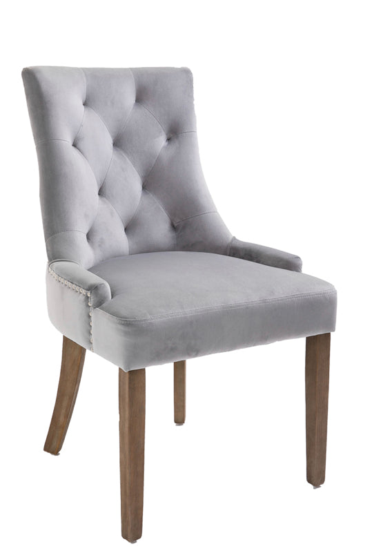 Sandy dining chair in light grey