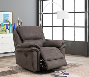 Ascot fabric reclining range in charcoal