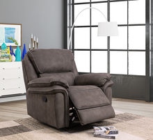 Load image into Gallery viewer, Preston fabric reclining 321 Suite in Charcoal