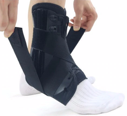 Reinforced Ankle Brace - Lace up with Stabilizer Straps