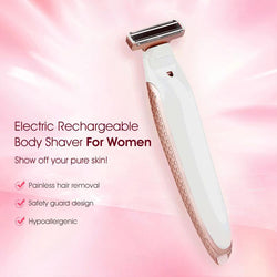 Womens Electric Razor Rechargeable Body Shaver Hair Remover